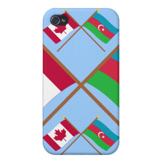Canada and Azerbaijan Crossed Flags Cases For iPhone 4
