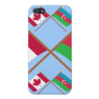 Canada and Azerbaijan Crossed Flags Covers For iPhone 5