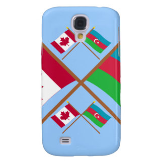 Canada and Azerbaijan Crossed Flags Galaxy S4 Cases