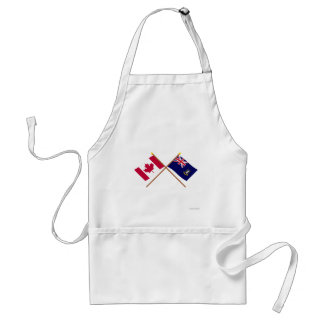 Canada and British Virgin Islands Crossed Flags Aprons