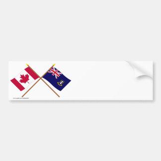 Canada and British Virgin Islands Crossed Flags Car Bumper Sticker