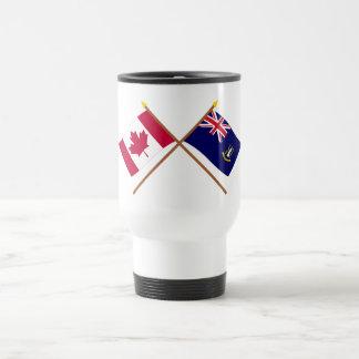 Canada and British Virgin Islands Crossed Flags 15 Oz Stainless Steel Travel Mug