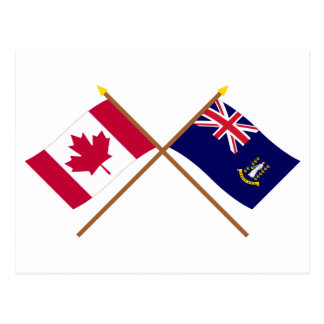 Canada and British Virgin Islands Crossed Flags Postcard