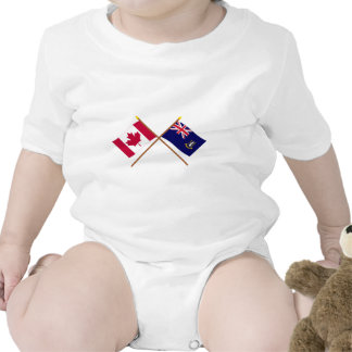 Canada and British Virgin Islands Crossed Flags T Shirts