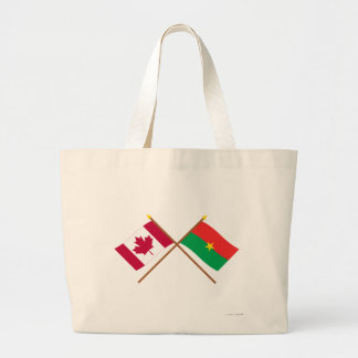 Canada and Burkina Faso Crossed Flags Tote Bags