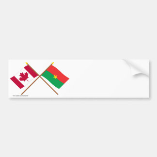 Canada and Burkina Faso Crossed Flags Bumper Stickers