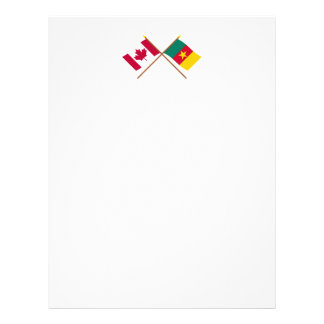 Canada and Cameroon Crossed Flags Letterhead