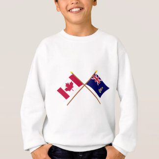 Canada and Cayman Islands Crossed Flags Sweatshirt