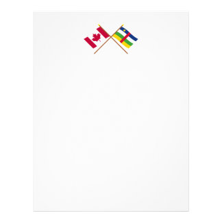 Canada and Central African Republic Crossed Flags Custom Letterhead