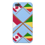 Canada and Congo Republic Crossed Flags Case For iPhone 5