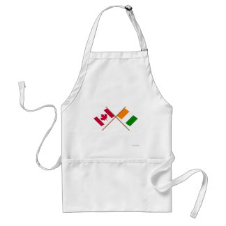 Canada and Cote d Ivoire Crossed Flags Apron