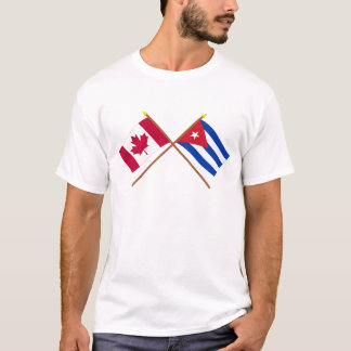Canada and Cuba Crossed Flags T-Shirt
