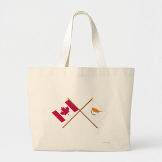 Canada and Cyprus Crossed Flags Jumbo Tote Bag