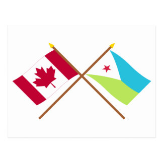 Canada and Djibouti Crossed Flags Postcard