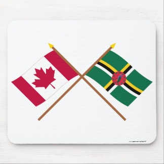 Canada and Dominica Crossed Flags Mouse Pad