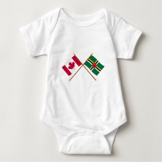 Canada and Dominica Crossed Flags Tee Shirt