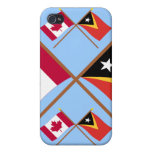 Canada and East Timor Crossed Flags Case For iPhone 4