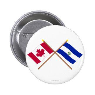 Canada and El Salvador Crossed Flags Pin