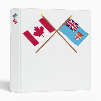 Canada and Fiji Crossed Flags Binder