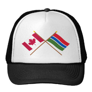 Canada and Gambia Crossed Flags Trucker Hat