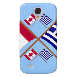Canada and Greece Crossed Flags Galaxy S4 Case