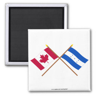 Canada and Honduras Crossed Flags Magnets