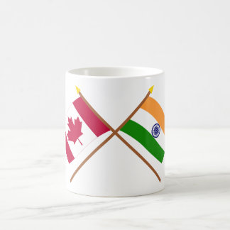 Canada and India Crossed Flags Coffee Mug