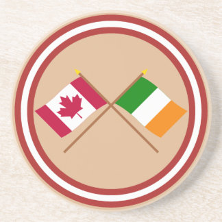 Canada and Ireland Crossed Flags Coaster