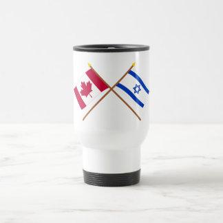 Canada and Israel Crossed Flags Coffee Mug