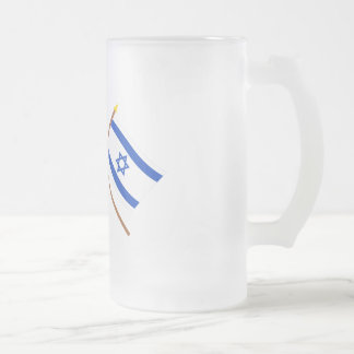 Canada and Israel Crossed Flags Mugs