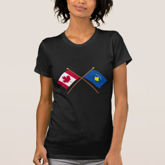 Canada and Kosovo Crossed Flags Shirt