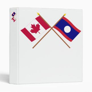 Canada and Laos Crossed Flags Binder