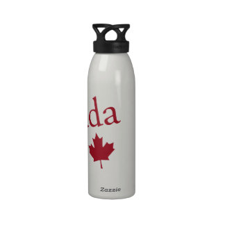 Canada and Maple Leaf Water Bottles