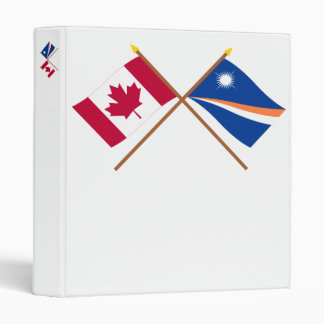 Canada and Marshall Islands Crossed Flags Binders