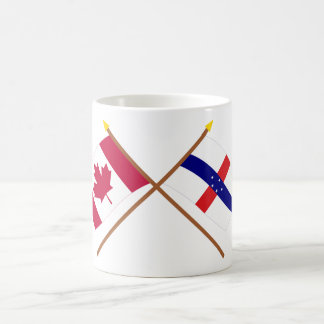 Canada and Netherlands Antilles Crossed Flags Coffee Mug