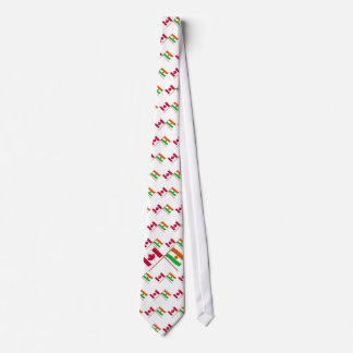 Canada and Niger Crossed Flags Necktie