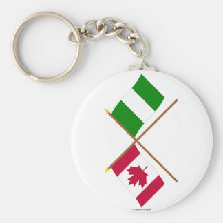 Canada and Nigeria Crossed Flags Keychains