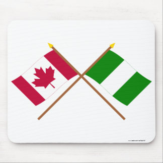 Canada and Nigeria Crossed Flags Mouse Pads