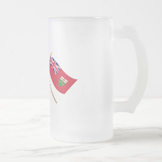 Canada and Ontario Crossed Flags Mug