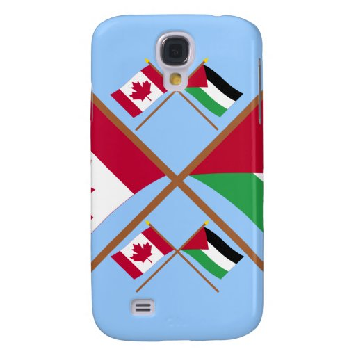 Canada and Palestinian Movement Crossed Flags Galaxy S4 Cover