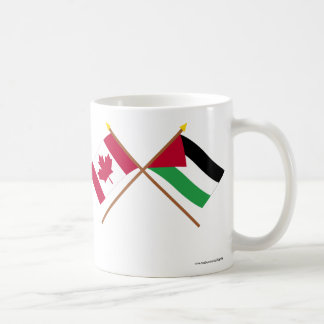 Canada and Palestinian Movement Crossed Flags Coffee Mug