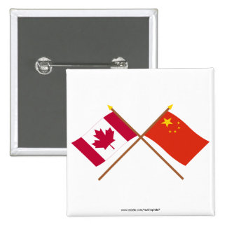Canada and People's Republic of China Crossed Flag Pin