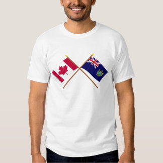 Canada and Pitcairn Islands Crossed Flags Shirt
