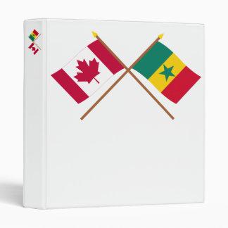 Canada and Senegal Crossed Flags 3 Ring Binders