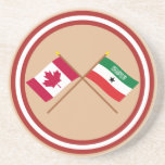 Canada and Somaliland Crossed Flags Beverage Coaster