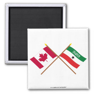 Canada and Somaliland Crossed Flags Fridge Magnets