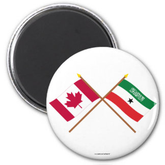 Canada and Somaliland Crossed Flags Magnets