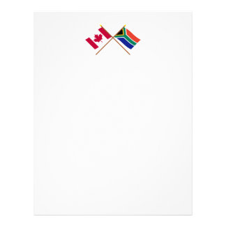 Canada and South Africa Crossed Flags Letterhead