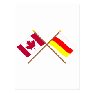 Canada and South Ossetia Crossed Flags Postcard