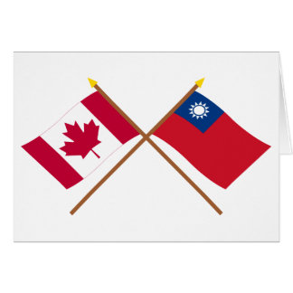 Canada and Taiwan Crossed Flags Card